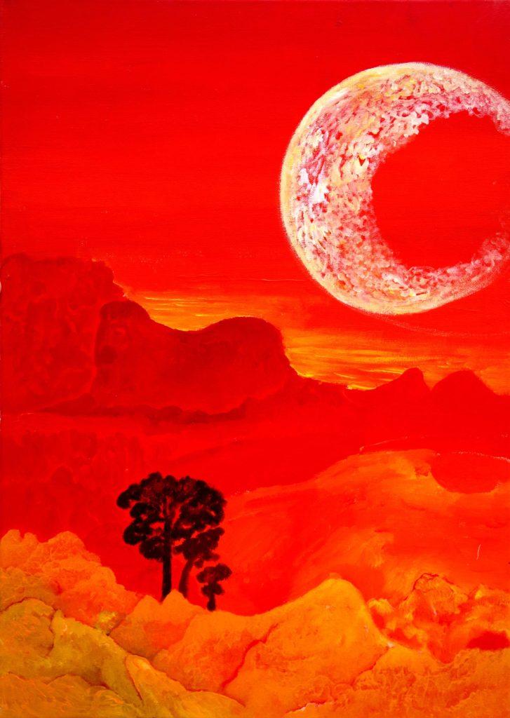 Bild von Richard Oliver Schulz: Mondaufgang