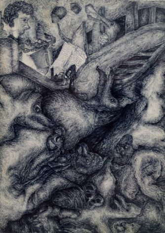 Zeichnung von Richard Oliver Schulz