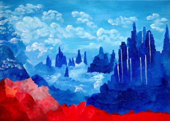 Weltraum, gemalt von Richard Oliver Schulz