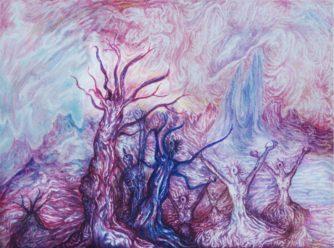 Gemälde 'Schreiende Bäume', 1978