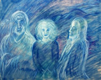 Die Heilige Familie (1), 1985, Ölpastell